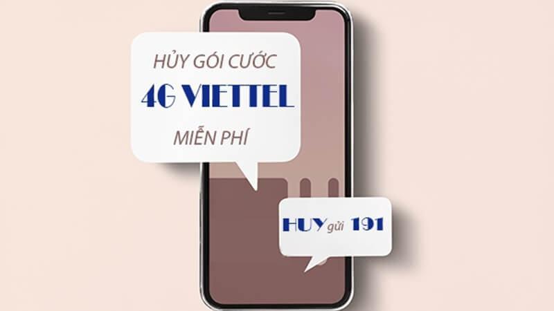 Hướng dẫn cách hủy gói cước 3G/4G của nhà mạng Viettel, Mobifone và Vinaphone năm 2020
